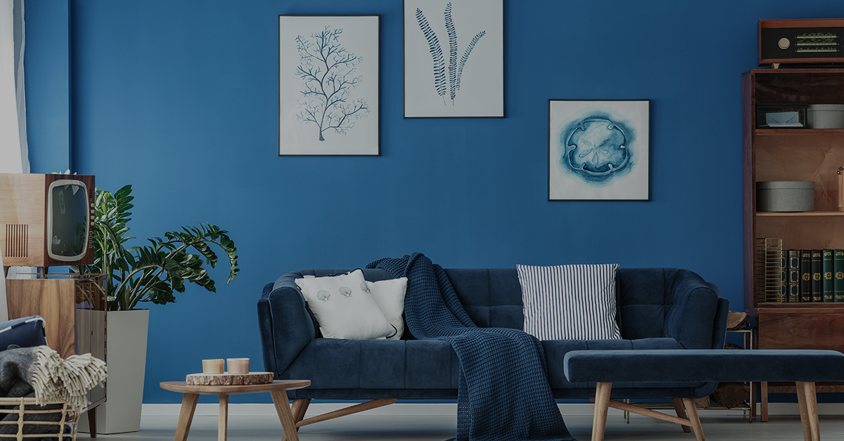 blue wall home painting