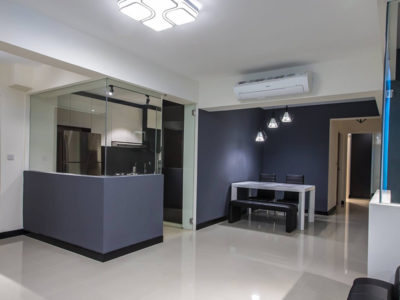 hdb open kitchen blue