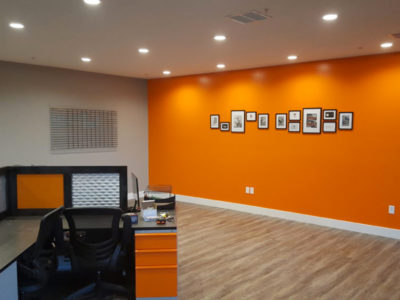 office wall orange