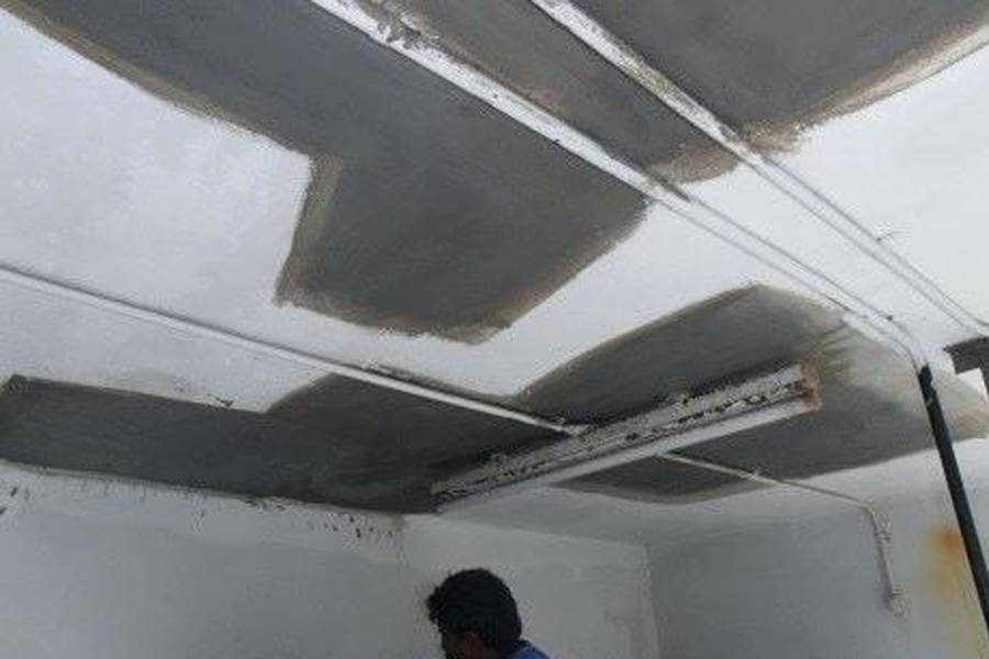 ceiling applied mortar
