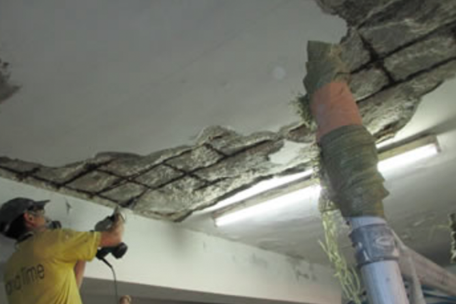 spalling repair removal ceiling